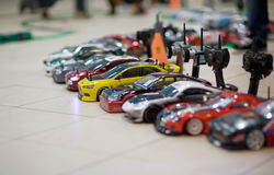 RC models. On championship with blured boken Stock Photography