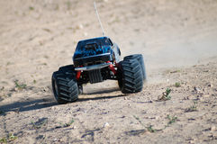 Rc monster truck. Rc model car turning at high speed stock photography