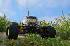 RC Nitro monster truck. 1/8 Scale radio control nitro powered monster truck on coastal dunes Stock Images