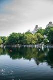RC łodzie w Central Park jeziorze Zdjęcia Stock