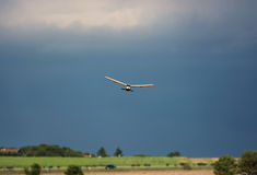 Rc plane and dark sky Royalty Free Stock Images