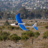RC plane lands in the dessert Royalty Free Stock Photos