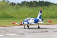 Rc plane prepare for take off Royalty Free Stock Image