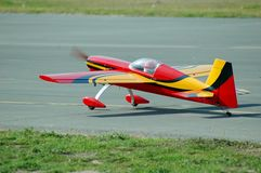 RC plane taking off Royalty Free Stock Images