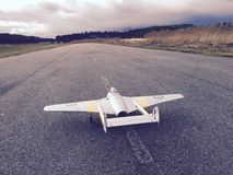 RC plane. On tarmac Royalty Free Stock Photography
