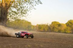 Rc practice time with the Traxxas Slash Stock Image