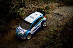 Rc rally car Ford Fiest WRC Royalty Free Stock Photography