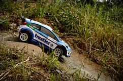 Rc rally car Ford Fiesta WRC royalty free stock images