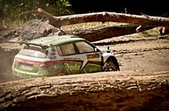 Rc rally car Skoda Fabia S2000 Stock Photography