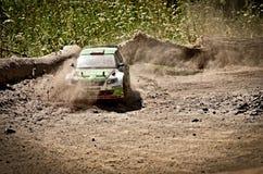 Rc rally car Skoda Fabia S2000 Stock Photos