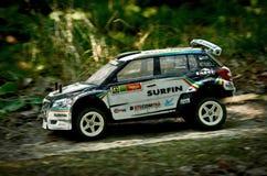 Rc rally car Skoda Fabia S2000 Stock Photo