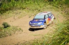 Rc rally car Skoda Fabia S2000 Stock Photography