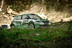 Rc rally car Skoda Fabia S2000 Royalty Free Stock Photography