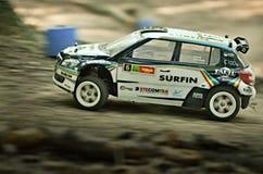 Rc rally car Skoda S2000 Stock Photos