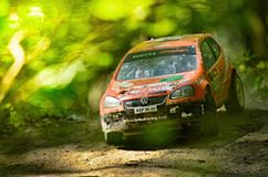 Rc rally car VW Volkswagen Golt GTI Royalty Free Stock Photo