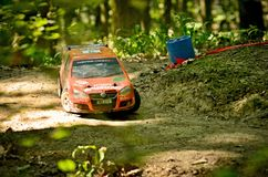 Rc rally car VW Volkswagen Golt GTI stock photography