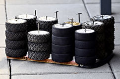 Rc rally tyres Royalty Free Stock Images