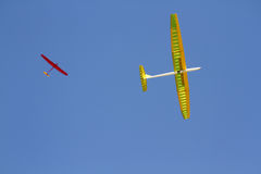 RC remotely controlled soaring plane Royalty Free Stock Images