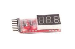 RC Spannung Lipo Batterie-Messinstrument-Schauzeichen stockfotografie