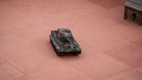 RC Tank game. Remote control Tank toy game stock footage