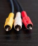 RCA головок кабелей Стоковое Фото
