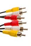 RCA кабеля Стоковые Фото