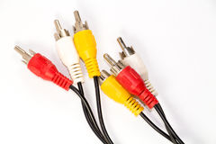 RCA cables Royalty Free Stock Photo