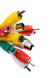 Rca connectors close up Stock Photography