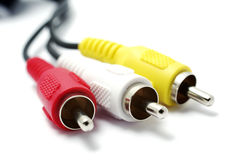 RCA Connectors Isolated. Royalty Free Stock Photos