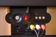 RCA kontaktdon för det videopd och stereo- ljudet Fotografering för Bildbyråer