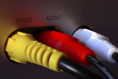 RCA plug-ins Stock Photo