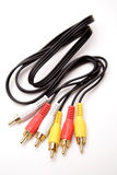 RCA plugs and cable Stock Image