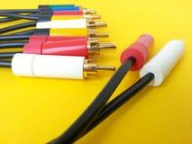 Rca van connectiviteitskabels voor audio videogadgets Royalty-vrije Stock Afbeelding