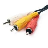 RCA verstopft das lokalisierte Kabel Lizenzfreies Stockfoto