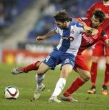 RCD Espanyol的胜者桑切斯 免版税库存照片
