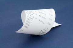Réception de caisse comptable Image libre de droits