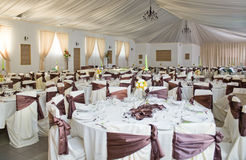 Réception de mariage luxueuse Image libre de droits