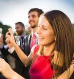 Réception en plein air de mariage Photos libres de droits