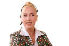 Réceptionniste de sourire Photos libres de droits