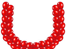 Rch of red balloons. A rch of red balloons on white background vector illustration Royalty Free Stock Images