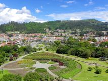 Rchaeological park and museum Pumapungo, Cuenca, Ecuador. En example of Incas garden at at Archaeological park and museum Pumapungo, ancient city Tomebamba royalty free stock images