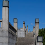 Rchitectural detail, lighting fixtures and stairs in Frogner Park in Oslo, Nrway Stock Photo