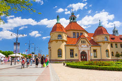 Rchitecture of Sopot at the Molo in Poland Royalty Free Stock Photos