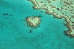 Récif de coeur, Australie Image stock
