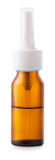 Récipient de pulvérisation nasale sur le fond blanc Image libre de droits