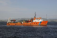 Récipients marins de support Photo libre de droits