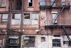 Delapidated New York City Wohnungen Stockbild