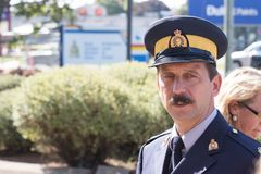 RCMP官员 库存照片