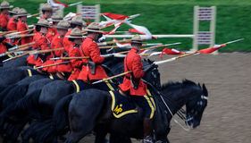 RCMP. Pictue of the famous RCMP Royal Canadian Mounted Police Stock Images