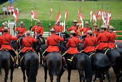 RCMP. Pictue of the famous RCMP Royal Canadian Mounted Police Stock Photo